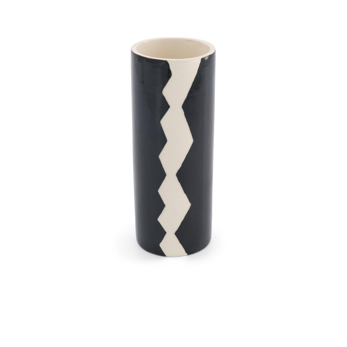 Pot Domino grand modèle motif noir