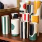 Pot Domino moyen modèle motif vert