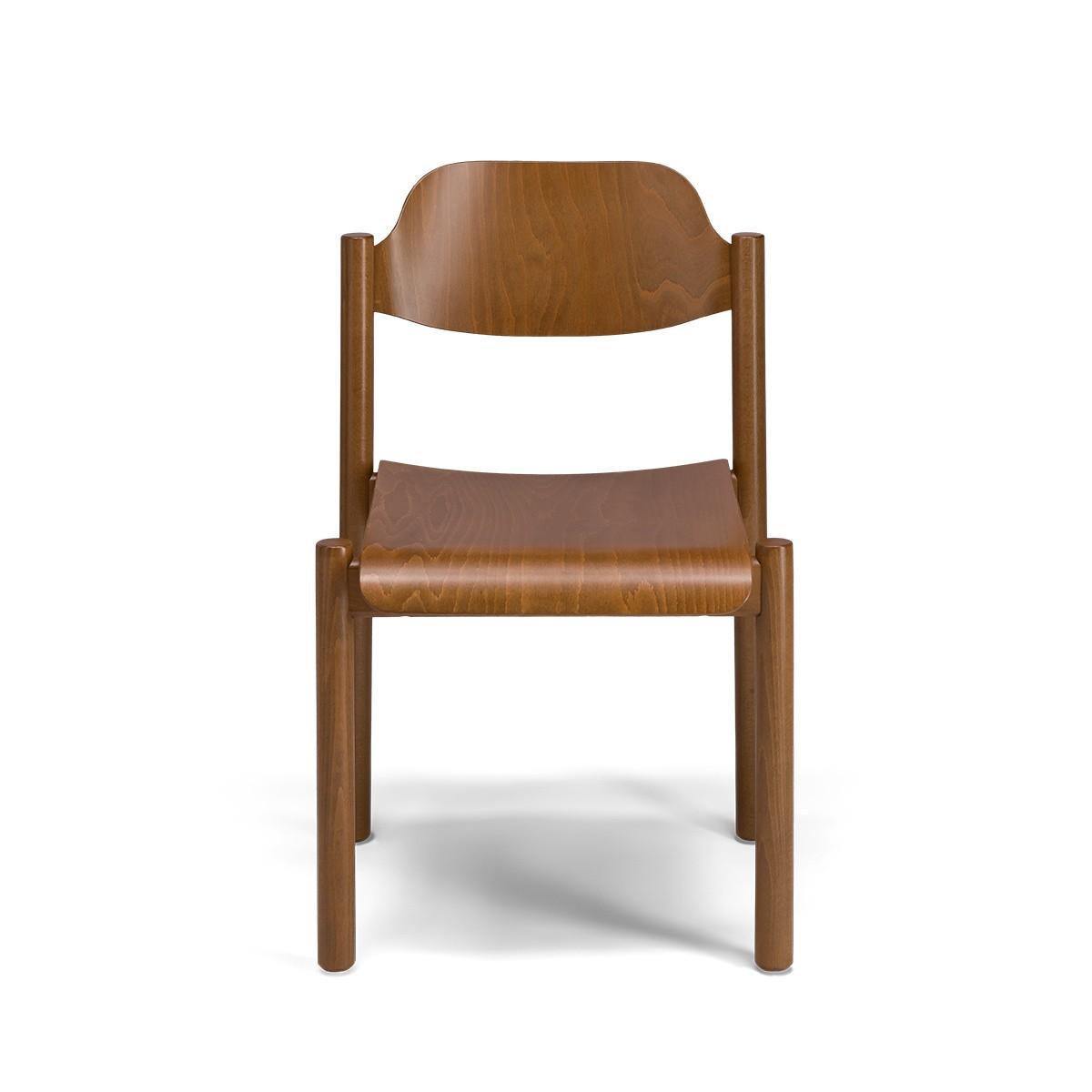 Chaise Achille bois brun