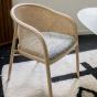 Fauteuil Cavallo clair laine bouclette noire et blanche