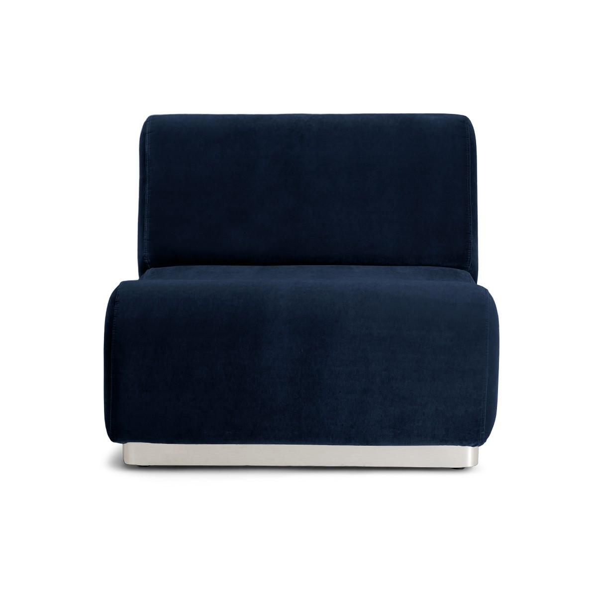 Chauffeuse modulable Rotondo velours bleu nuit