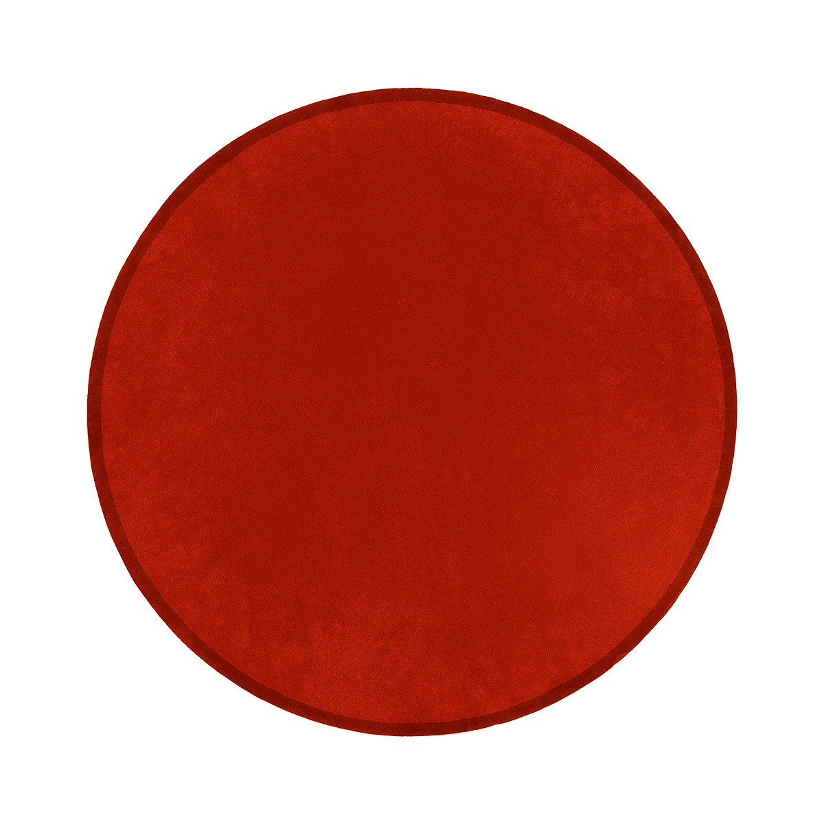 Tapis Luna rond rouge terre