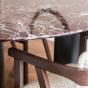 Table de salle à manger Carlotta Alta marbre rouge et pieds noirs - 4 places