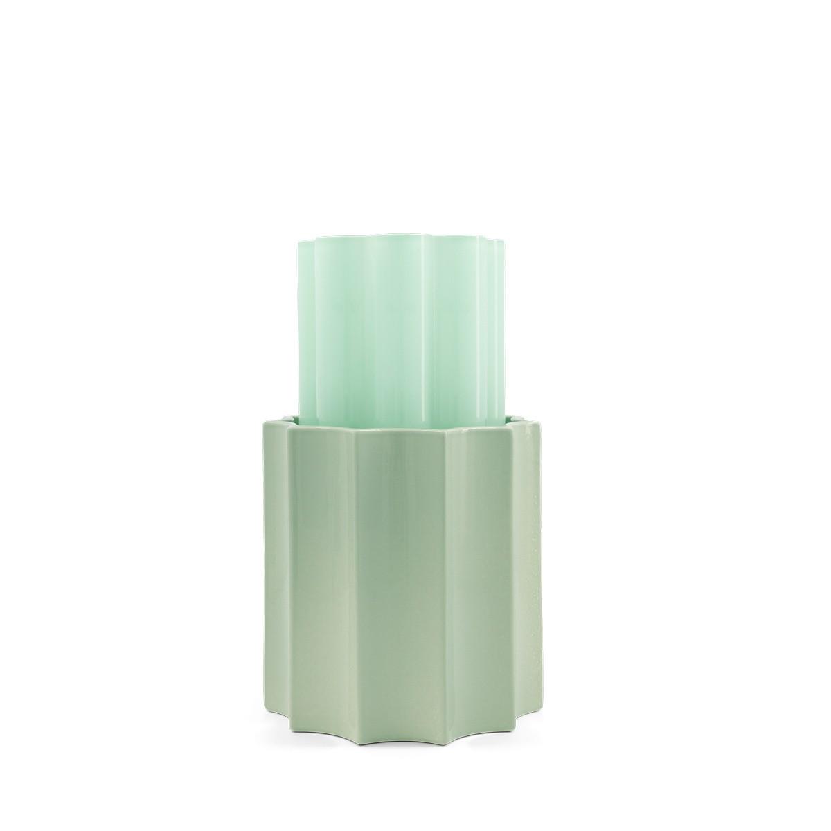 Vase Duetto vert anis et vert amande