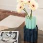 Vase Duetto vert anis et bleu foncé