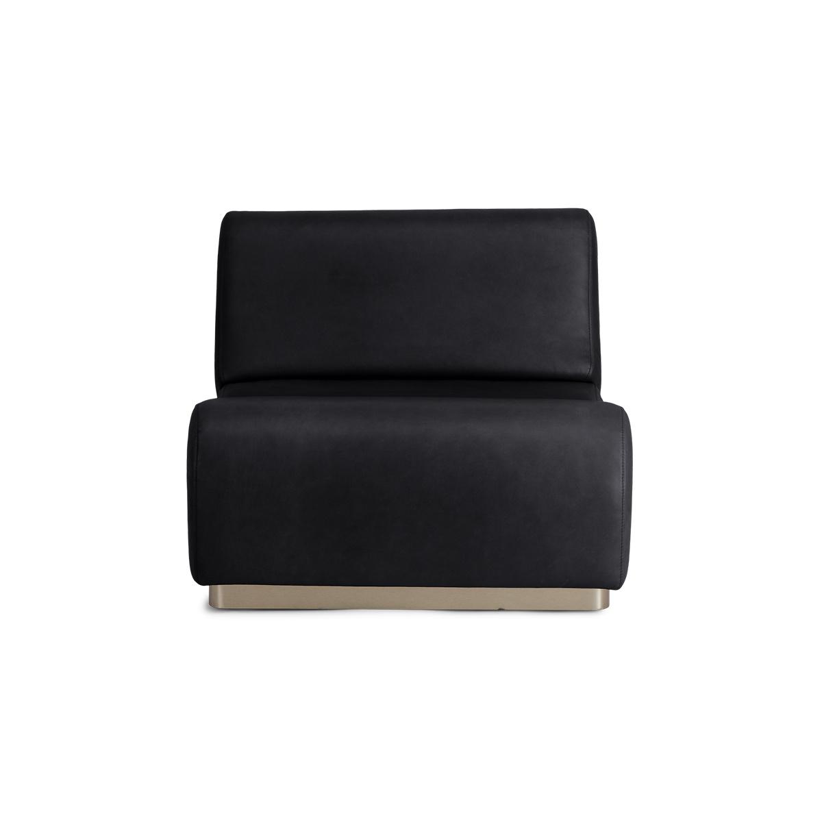 Chauffeuse modulable Rotondo en cuir noir
