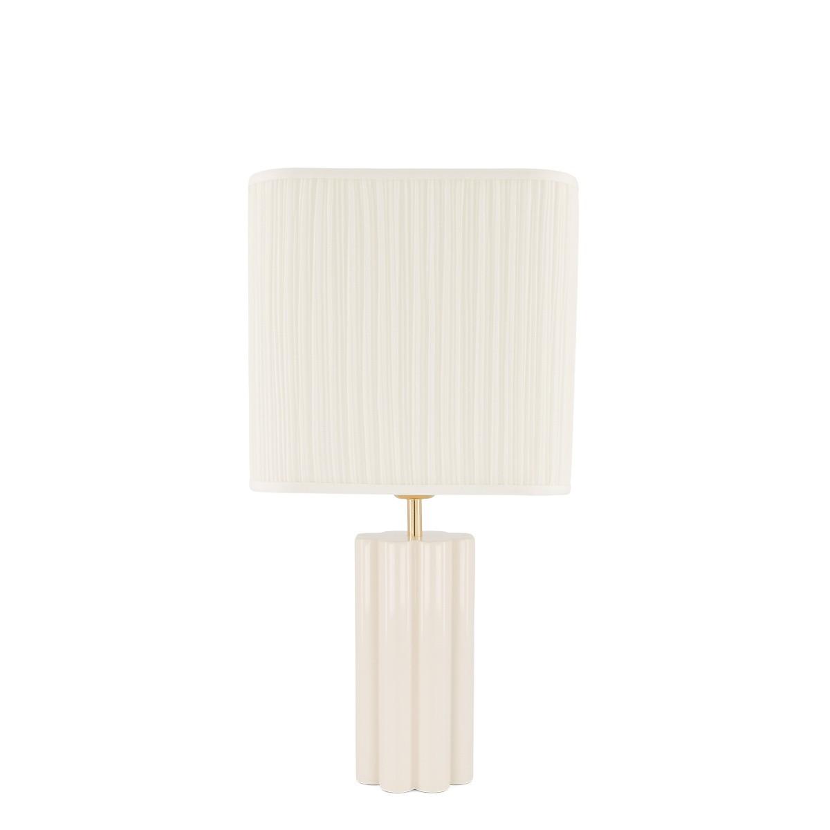 Petite lampe à poser Gioia blanc crème
